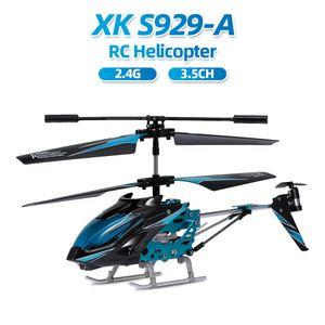 Wltoys XK S929-A RC Helikopter-Legierungskoerper 2.4G 3.5CH mit leichtem RC-Spielzeug fuer Anfaenger Kinder Kindergeschenke