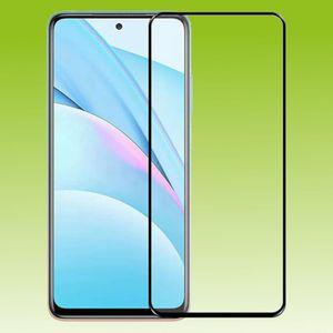 Für Xiaomi Redmi Note 10  3D Premium 0,3 mm H9 Hart Glas Schwarz Folie Schutz Hülle Neu