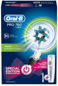 Oral-B Pro 760 Cross Action + refill + travel case