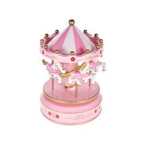 Merry-Go-Round Karussell Spieluhr Klassische Melodie Geburtstag Weihnachten Festival Musical Geschenk für Kinder Kinder