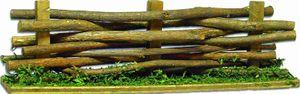 Krippenzubehör Zaun Holzzaun Weidenzaun Länge ca.30cm