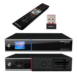 GigaBlue UHD UE 4K SAT TV Linux Receiver 2x DVB-S2 Twin Tuner - Wlan-Stick