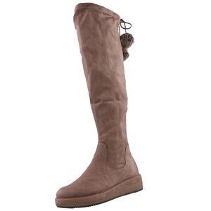 TAMARIS Damen Plateau-Overknee Stiefel Braun, Schuhgröße:EUR 37