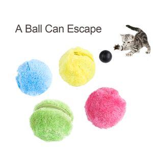 Haustier Hund Katze Automatische Roller Ball Spielzeug Hund Plüsch Spielzeug Bewegung Aktiviert Ball Haustier Interaktives Spielzeug mit 4 Korallen Samtbezügen