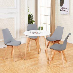 IPOTIUS Esstisch mit 4 Stühlen grau+Esstisch 80x80x70cm,für 2 4 Personen