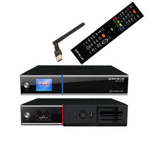 GigaBlue UHD UE 4K SAT TV Linux Receiver 2x DVB-S2 FBC Twin Tuner 4x PiP CI SmartCard PVR Streaming SAT>IP APP Ultra HD mit PremiumX USB WLAN Stick