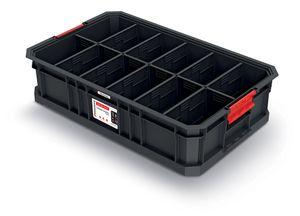 Kistenberg Modulkiste Werkstattbox Transportkiste Lagerkiste mit Trennwänden Transportbox Aufbewahrungsbox 520 x 327 x 125 mm
