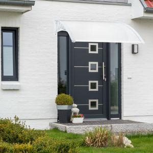relaxdays Vordach Haustür Kunststoff