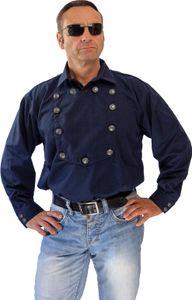 Blaues Country Westernhemd  John Wayne von Running Bear M- 4XL - Cowboyhemd M - 50/52
