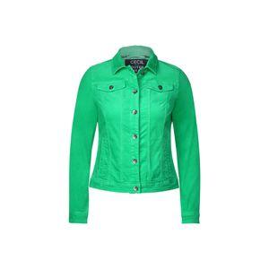 Cecil Jacke kurz Damen Velvet Denim Jacket Größe M, Farbe: 12411 neon green