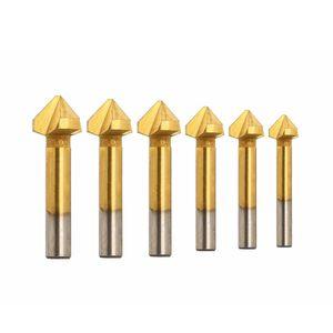 6x 90°Kegelsenker Satz HSS Senker Entgrater Set Edelstahl Stahl 6.3-20.5mm