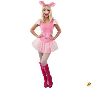 Damen Kostüm Schwein Pinky, Größe:L/XL