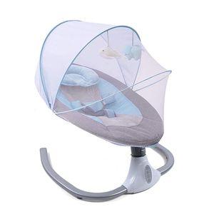 Bluetooth Babywippe Babyschaukel Babynest Baby Wippe Kinder Schaukel Bouncer Babyschaukelstuhl Schaukelsitz (Blau)