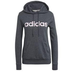 adidas Kapuzenpullover Damen Essentials Logo Hoodie, Farbe:Grau, Damen Größen:L