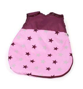Puppenschlafsack Stars Brombeere