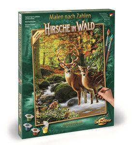 Schipper 609130810 Hirsche im Wald Malen nach Zahlen