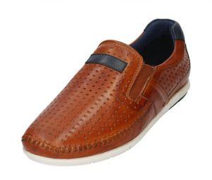 Bugatti Men Schuhe Herren Slipper 321-70061-4100-6300 Leder Halbschuhe Cognac