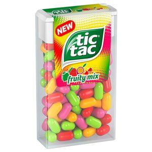 tic tac Fruity Mix Kirsch Maracuja Zitronen Limetten Erdbeer Minze 49g