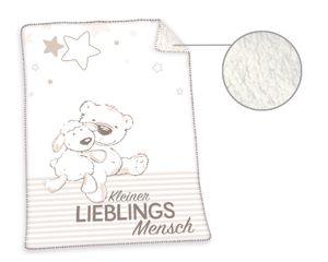 Kleiner Lieblingsmensch Soft-Plush-Decke / Babydecke, 75x100 cm