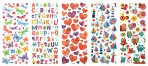 """folia Glitzer-Sticker """"Dekozauber"""" 100 x 230 mm 5 Blatt"""