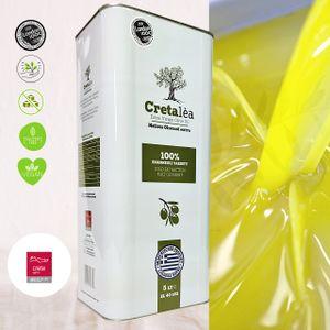 Olivenöl Extra Nativ 5 Liter aus Kreta, Ölsäure∽0,4%, Ernte 2020/ 21, Abfüllung: 05/ 2021, MHD 09.22, seit 1890 Olivenöl Tradition, Cretalea Extra  Virgin Olivenöl