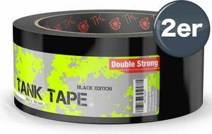 Panzertape Tank Tape 2.0 Black Edition - Gewebeklebeband 50 Meter * 50 mm, ultrastark & witterungsbeständig Panzerklebeband Reperaturband Gewebeband Duct Tape(023€/m)