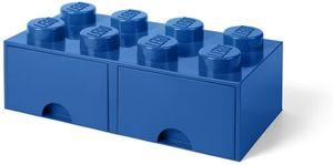 LEGO Aufbewahrungsbox mit Schublade mit 8 Noppen, blau