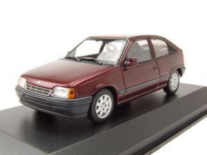 Opel Kadett E 1990 rot metallic Modellauto 1:43 Maxichamps