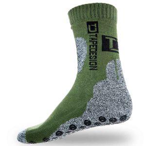 TAPEDESIGN Outdoor Socks Antirutschsocken grün/grau