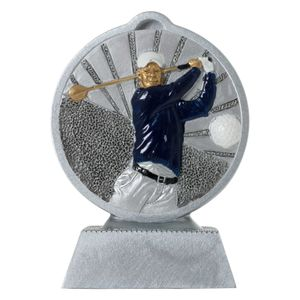 Pokal mit 3D Motiv Golf Golfer Serie Ronny 10,5 cm hoch