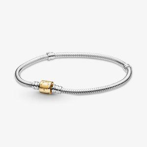 Pandora Shine 599347C00 Schlangen-Gliederarmband Moments  Zweifarbig mit Zylinderverschluss 18 cm