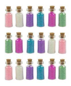 Set von 18 Mini-Flaschen mit Dekosand (Typ 2)