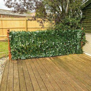 4 Stück 1m*2m Blatt Grün Sichtschutz Windschutz Verkleidung Nachbildung für Balkon Terrasse Zaun (1pc=25*50cm)
