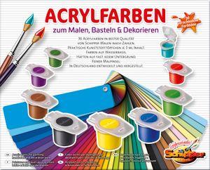 Noris Spiele Malen nach Zahlen - 36 Acrylfarben; 605190741
