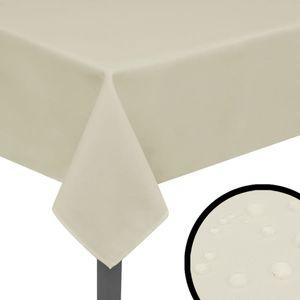 Hochwertigen- Tischdecken Tafeldecke 5 Stk Creme 170x130 cm
