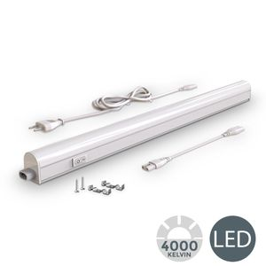 LED Unterbauleuchte I Lichtleiste I 57,3cm I 8W I 700lm I 4.000K neutralweiß I erweiterbar durch Stecksystem I  B.K.Licht