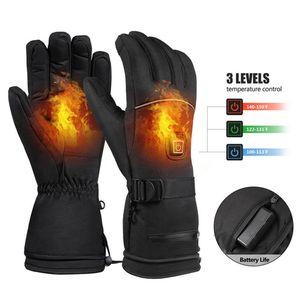 Erwärmung warme Handschuhe Elektrische Skihandschuhe 3-Stufen-Temperaturregelung zum Klettern Skifahren
