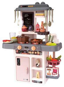 Kinderplay Kinderküche Spielküche Küchen-Set - Spielzeug für Kinder, Licht, Ton, Wasser, Wasserdampf, die Kochen Imitiert, 42 Zubehörteile im Set, KP3303