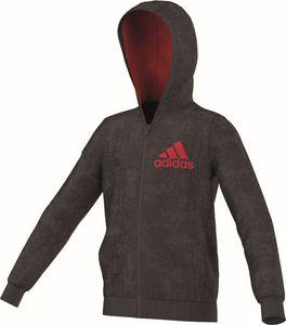 adidas Kinder Sport Kapuzenjacke Essentials Full Zip Hoodie AOP schwarz orange, Größe:176