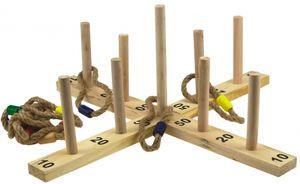Alert Ringwurfspiel Holz Wurfspiel für Außen Ringe werfen