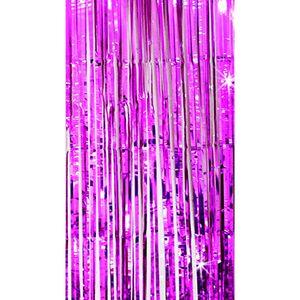 Oblique Unique Lametta Vorhang Dekoration Party Feier Fasching Karneval - pink