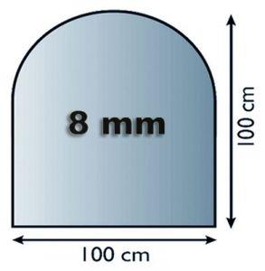 Funkenschutzplatte Glas 8mm Lienbacher Rundbogen 1000x1000mm