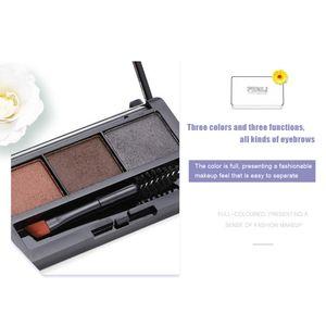 Augenbrauencreme Augenbrauenpulver Fashion 1 Pinsel Tricolor Terminpalette