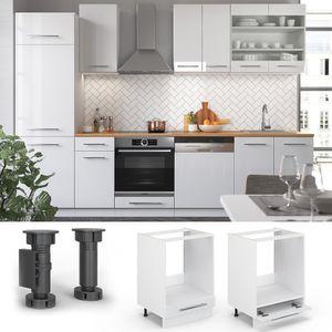 Vicco Herdumbauschrank 60 cm Küchenschrank Küchenschränke Küchenunterschrank Hochglanz Fame-Line Küchenzeile