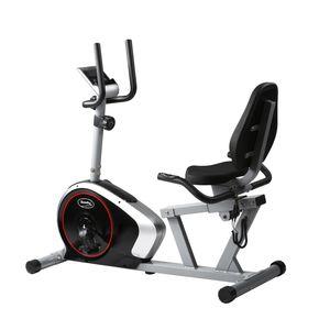 Sitz-Heimtrainer Trimmrad mit Rückenlehne verstellbarer Sitz Schwungmasse ca. 9kg Computer Pulsmessung