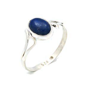 Lapis Lazuli Ring 925 Silber Sterlingsilber Damenring blau (MRI 141-06),  Ringgröße:62 mm / Ø 19.7 mm