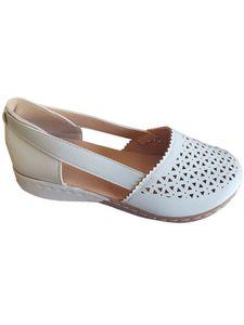 Abtel Damen Sandalen Lässige Hohle Keilschuhe Einfarbige High Heels All-Match-Schuhe,Farbe:Weiß,Größe:40