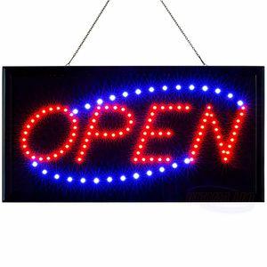 Melario LED Open Geöffnet Schild Leuchtschild Pizza Tattoo Leuchtreklame Display Werbung