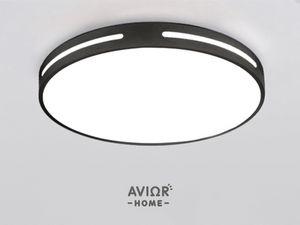 """Avior Home LED Deckenleuchte """"Modern"""" Tageslicht 36 W 50cm schwarz"""