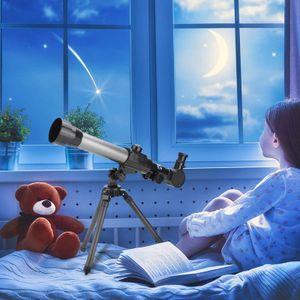 Teleskope für Kinder Anfänger,70mm Astronomie Refraktor Teleskop mit verstellbarem Stativ Tragbares Zielfernrohr für erwachsene Kinder (47 * 45 cm)
